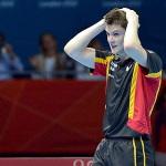 Dimitrij Ovtcharov of Germany celebrates