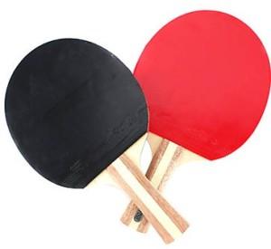 красная и черная сторона ракетки