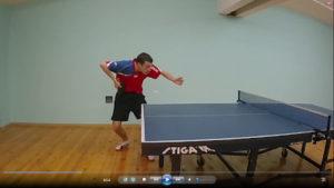 """Подача справа """"маятником"""" в настольном теннисе"""