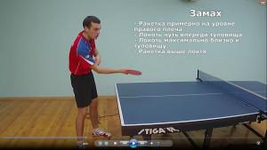 Техника настольного тенниса при подрезке справа