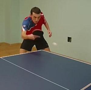 Тренировка настольный теннис