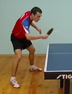 Техника наката слева в настольном теннисе: наклон ракетки